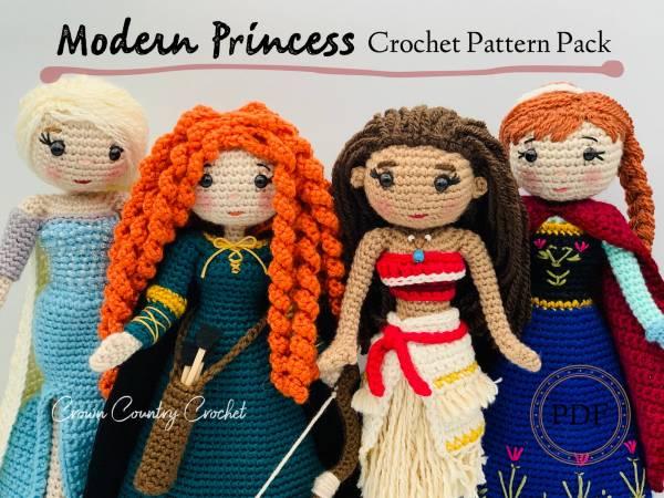 Amigurumi Princess Doll in Cape Crochet Free Pattern | 450x600
