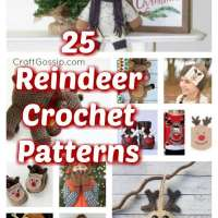 25 Christmas Reindeer Crochet Patterns