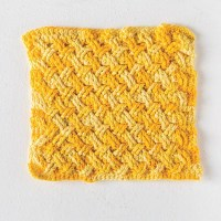 Free Crochet Celtic Weave Dishcloth Pattern