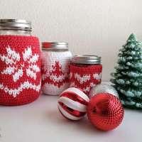 Christmas Mason Jar Cozies