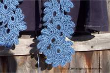Country Blue Lotus Flower Scarf