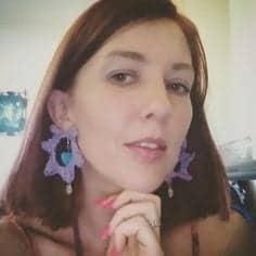 Crochet Decorated Earrings
