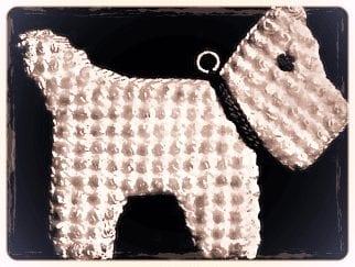 Scottish pot holder vintage crochet