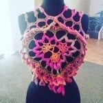 crochet flower power top free crochet flower top pattern