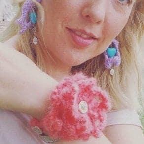 Waterlily Crochet bracelet