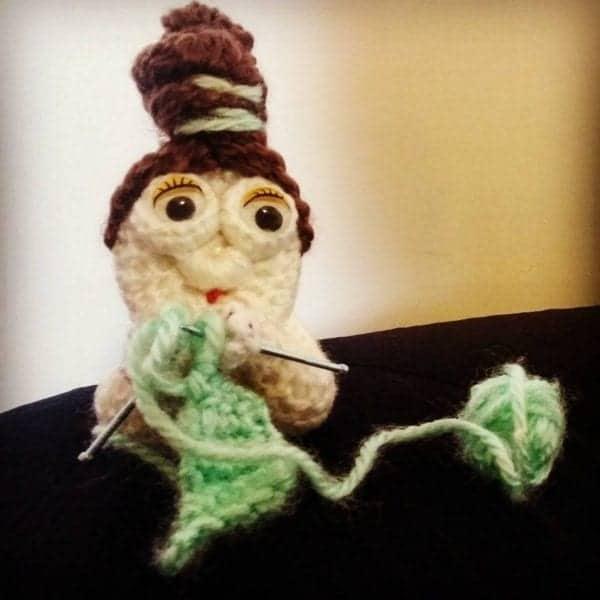 knitting lady free crochet pattern