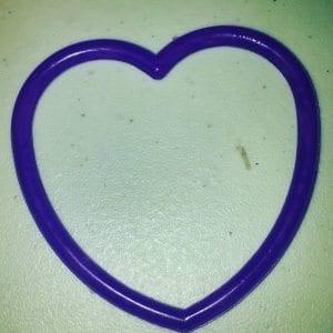 Heart shaped frame.