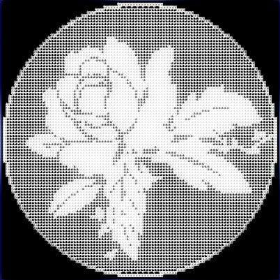 Filet Crochet Rose pattern Free