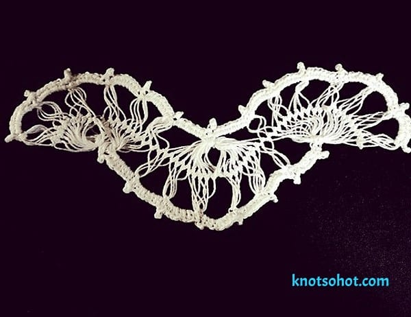 crochet bridal choker necklace