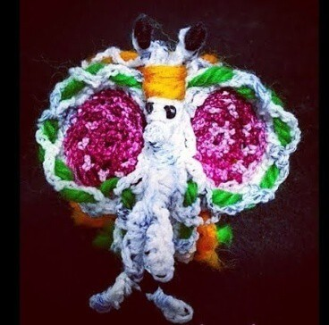 Crochet Butterfly sculpture amigurumi pattern
