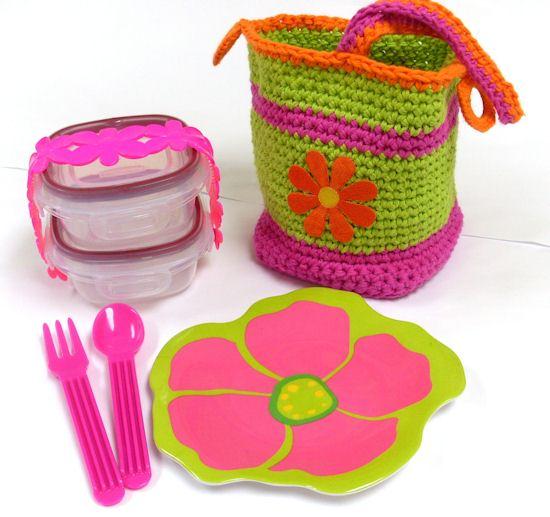A crochet bento box that embodies the joy of crochet