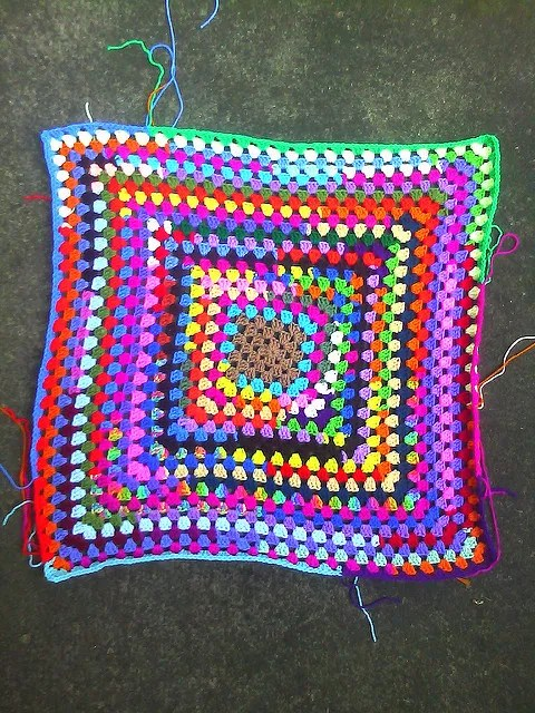 large crochet granny square crochet square