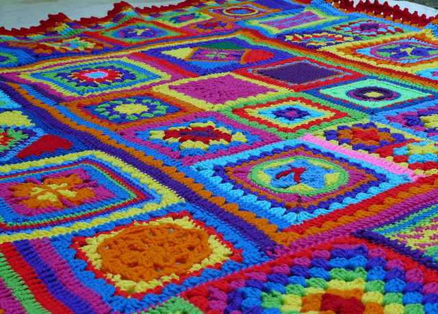 crochet squares center crochet blanket