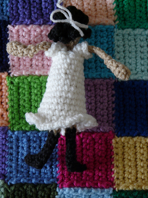 back of a crochet doll