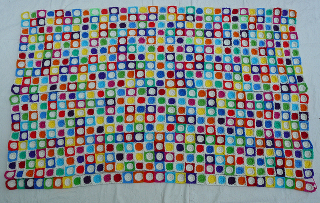crochet squares and crochet circles