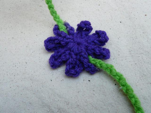crochet flower detail