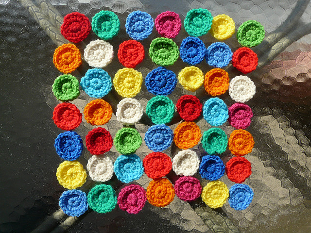 colorful crochet circles