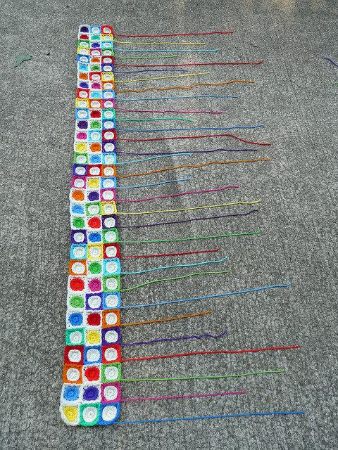crochet circles, crochet squares
