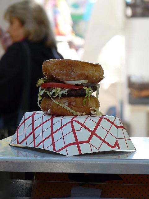 2010 North Carolina State Fair, crochetbug, krispy kreme, donut, doughnut, krispy kreme burger