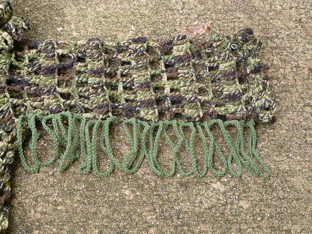 Manly crochet fringe