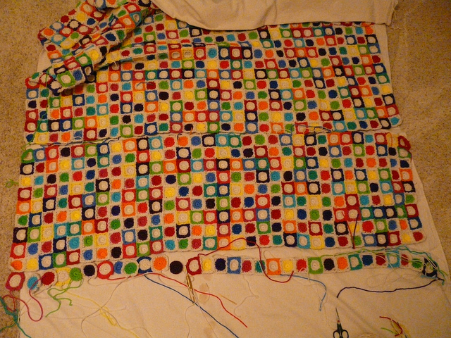 My 2010 North Carolina State Fair project with a recalcitrant 31st row that I crocheted s-l-o-w-l-y