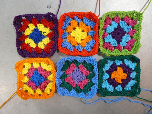 crochet squares, crochetbug, granny squares, crochet dress, granny square dress, multicolor crochet