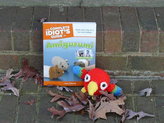 Perry the amigurumi crochet parrot