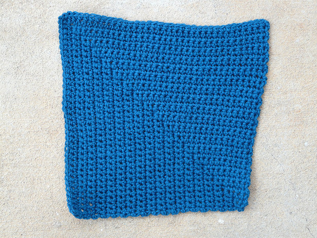 """My """"I'm in"""" crochet square contribution to a larger crochet project"""