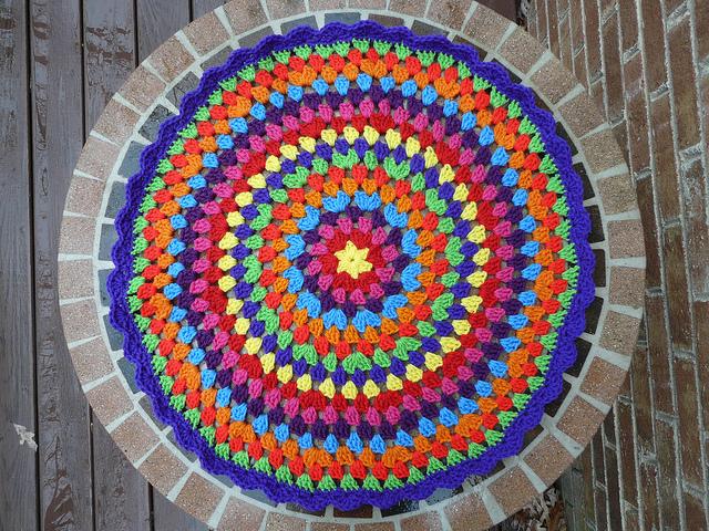 rainbow crochet mandala