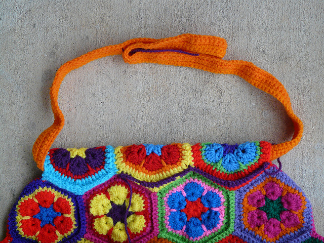 an unsuccessful single crochet strap for a crochet purse