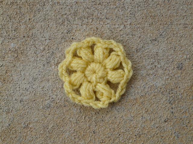 crochet flower center