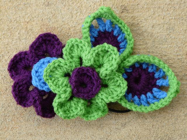 crochet flower crochet headband