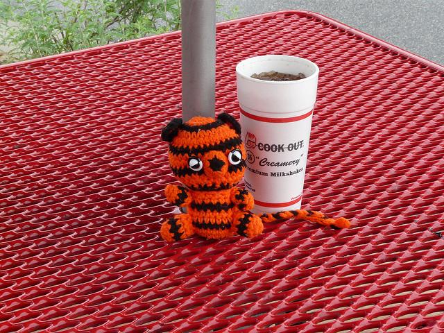 crochetbug, crochet tiger, amigurumi tiger, crochet toy, wilson, north carolina tornado