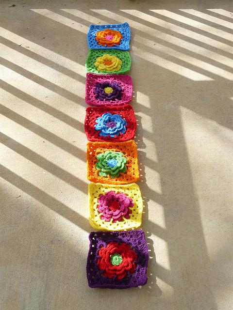 crochet squares crochet flowers