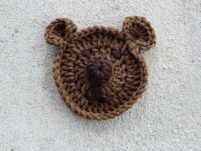 Crochet teddy bear face