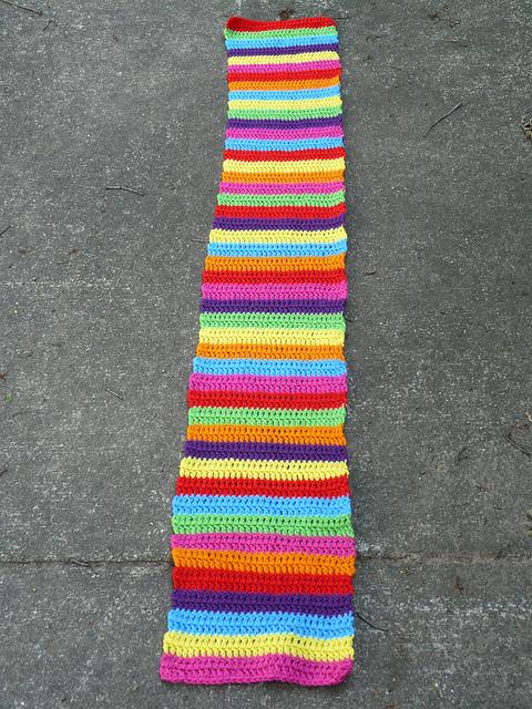 double crochet stripe strip