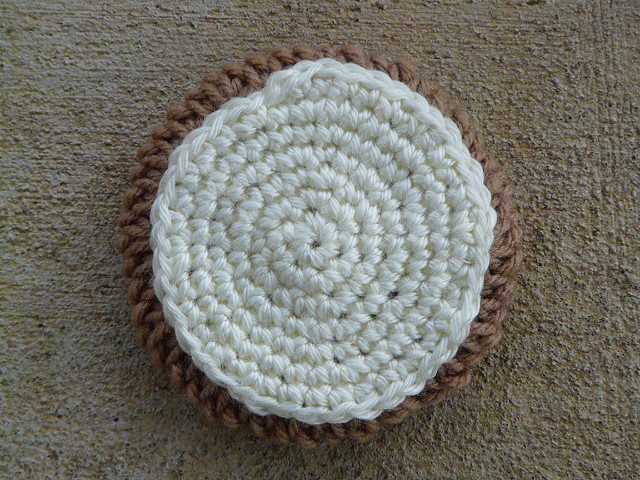 crochet cookie with crochet icing