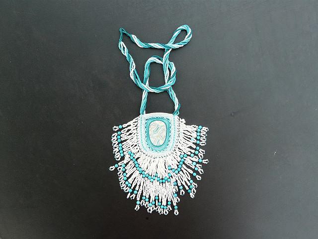 overlay crochet amulet bag