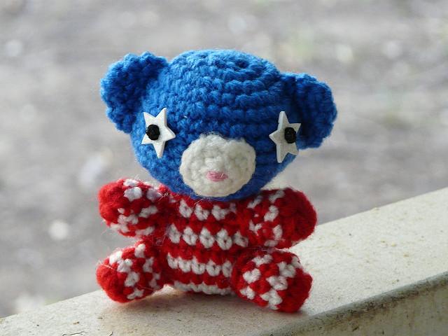 fourth of july amigurumi bear