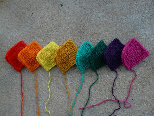 eight crochet squares