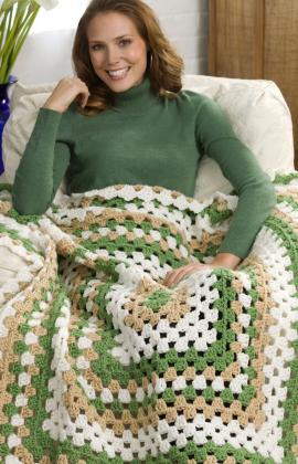 weekend granny crochet throw, crochetbug, crochet blanket, granny square, granny rectangle