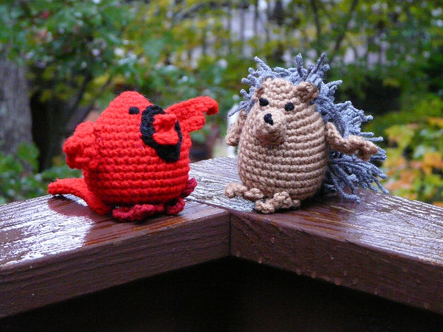 crochetbug, crochet cardinal, crochet bird, amigurumi cardinal, amigurumi bird, crocheted, crocheting, red, rojo, rouge