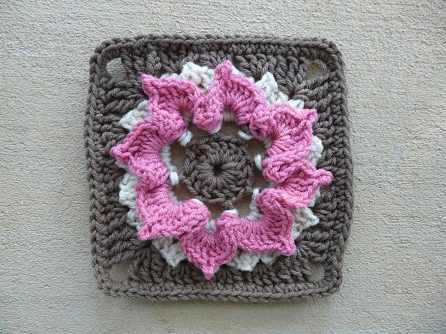 A neapolitan ice cream inspired crochet granny square