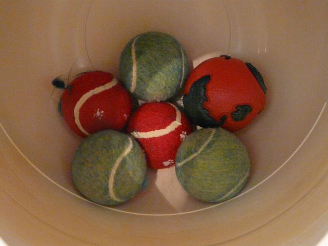 tennis balls to increase agitation