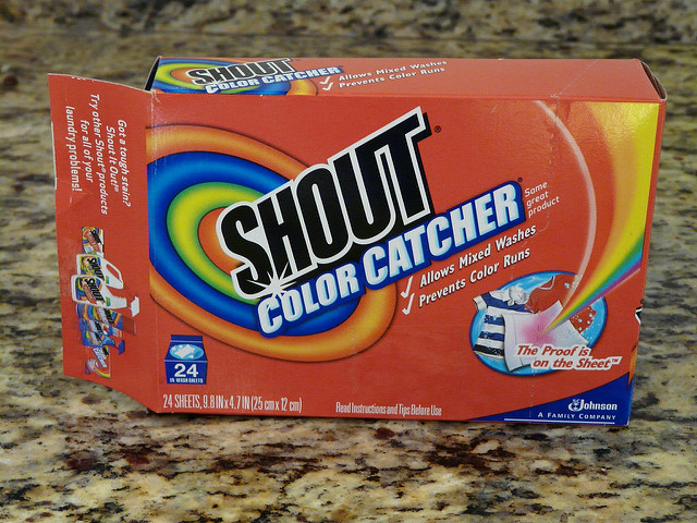 shout brand dye catchers