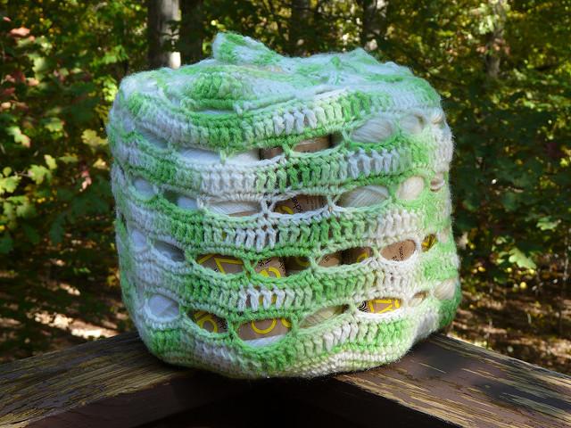 sublime crochet stash basket