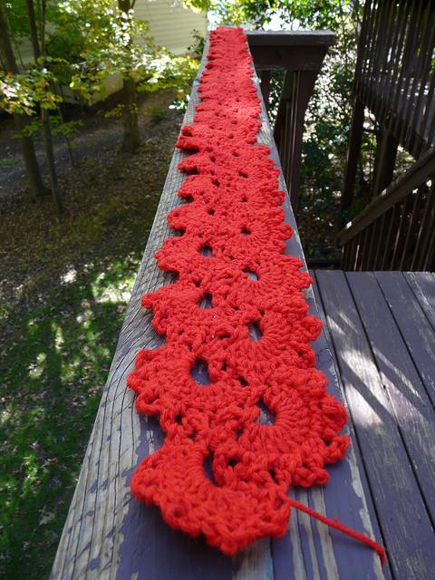 crochet lace scarf