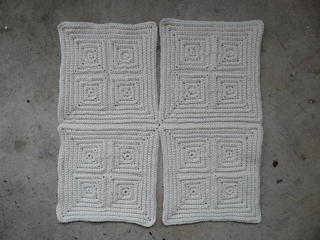 crochetbug, textured crochet squares, textured crochet afghan, textured crochet throw, textured crochet blanket