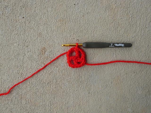 crochet square center