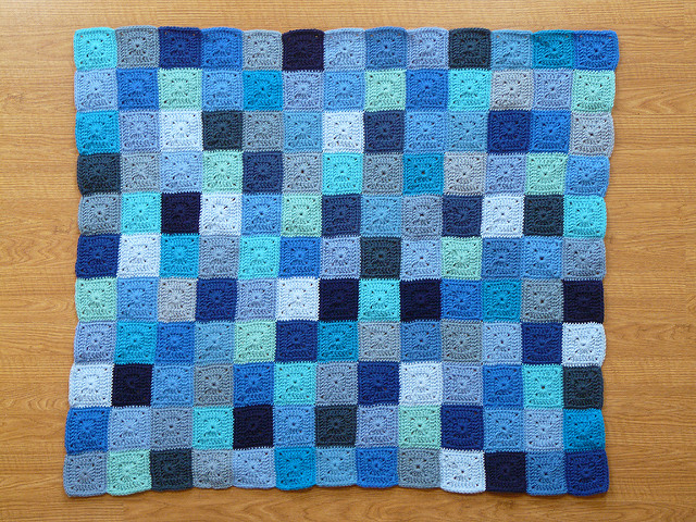 I finish the body of the Little Boy Blue crochet blanket